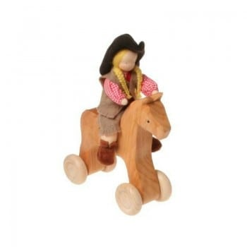 wooden horse grimms is a stunning pull and push toy for little ones
