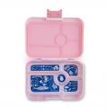 tapas yumbox in pink is for pre teens, teen and adults for lunch on the go
