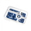 yumbox tapas tray helps you get extra organised. Available in 4 or 5 compartments to suit your lunch needs.